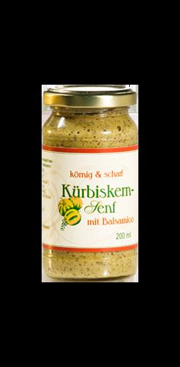 Kürbiskern-Senf mit Balsamico